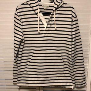 J. Crew Nautical Stripe Hoodie Mens M